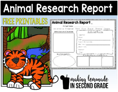 free printable animal report animal research report printables by making lemonade in
