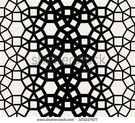 geometric pattern lace abstract geometric seamless pattern black white stock