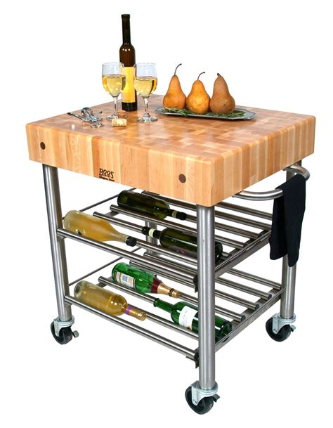 Butcher Block Kitchen Islands Carts John Boos | john boos cucina d amico kitchen wine cart w maple top on
