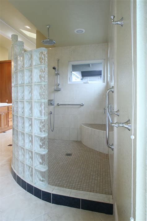 Bathrooms With Walk In Showers Kitchen And Bath Construction And Remodeling Walk In Shower After Images