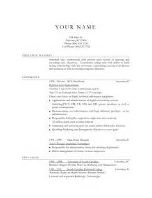 Examples Of Good Resume Objectives A Good Job Resume