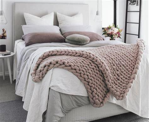 Bettdecke Selber Stricken grobmaschige decke stricken ohne nadeln anleitung zum