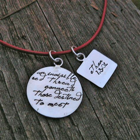 an invisible thread an adoption necklace personalized solid sterling silver