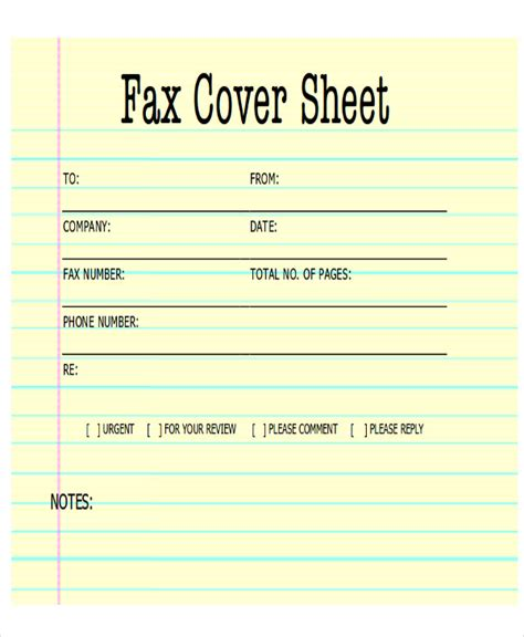 generic fax cover letter sle fax cover letter in pdf 8 exles in pdf