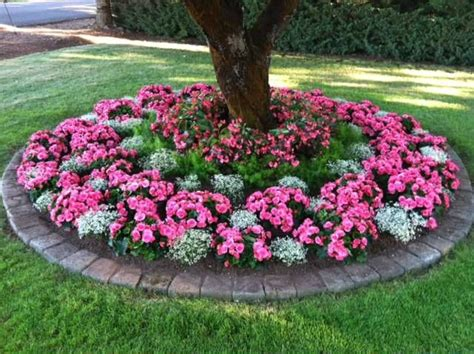 small flower bed ideas flower bed around tree small back yard pinterest