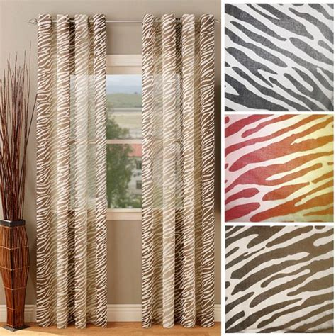 sheer animal print curtains pinterest