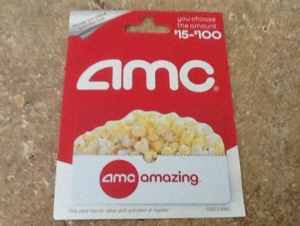 Where Can Amc Gift Cards Be Used - free 50 amc gift card that can be used at any amc theatre all over usa gift cards