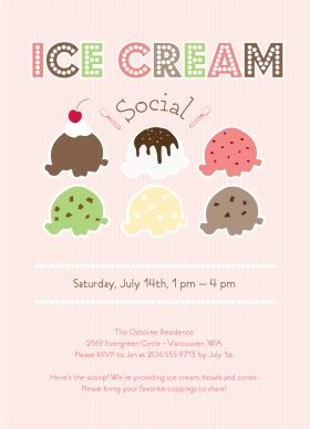 Printable Ice Cream Social Invitation Template Social Flyer Word Template