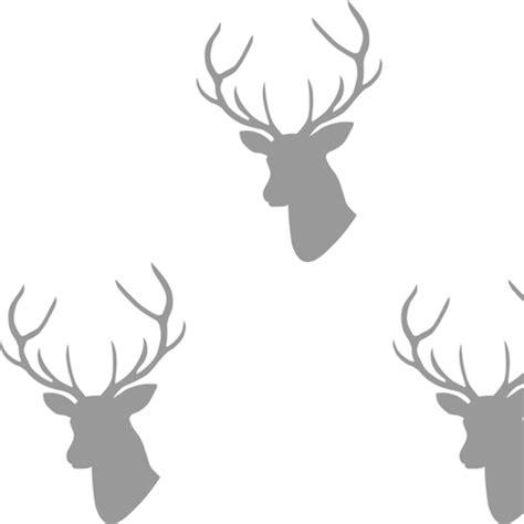 stag wallpaper grey gray deer silhouette fabric mrshervi spoonflower