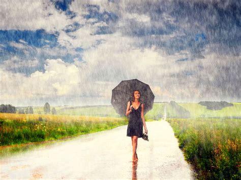 wallpaper girl rain girl rain image