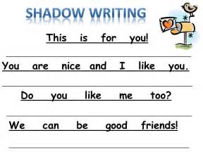 for the love of kindergarten new shadow writing freebie