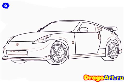 nissan skyline drawing step by step nissan sketch