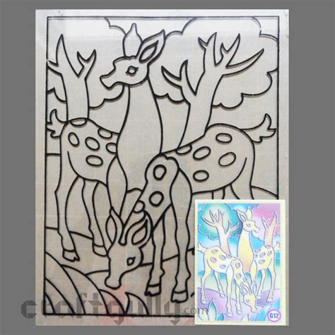 glass painting templates patterns ready to glass paint stencil deer