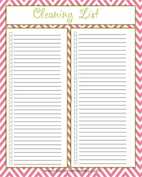 7 Best Images Of Blank Printable Checklists Free Printable Blank Checklist Blank Printable Blank Cleaning Checklist Template