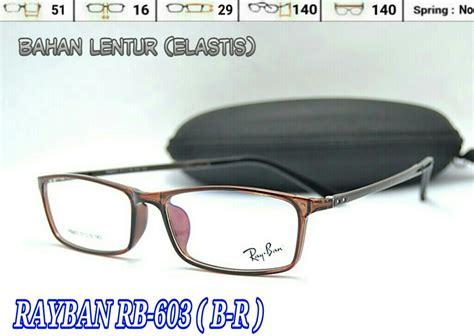 Frame Kacamata Lentur Minus Baca Pria Wanita 9023 Putih Murah Terbaru jual frame kacamata lentur rayban rb603 pria wanita