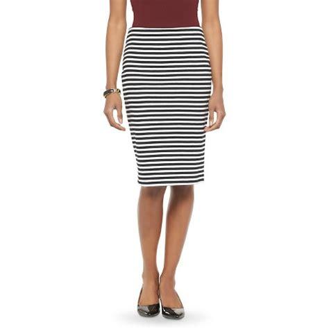 s striped ponte pencil skirt merona 174