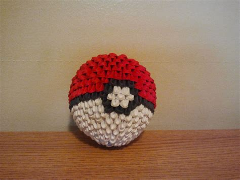 Origami Pokeball - 3d origami pokeball by pokegami on deviantart