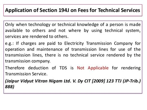 Tds Section 194j by Tds Ignou 1