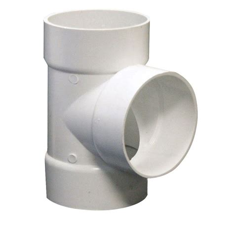 plastic tee section charlotte pipe 1 1 4 in x 1 1 4 in x 1 in pvc sch 40 s