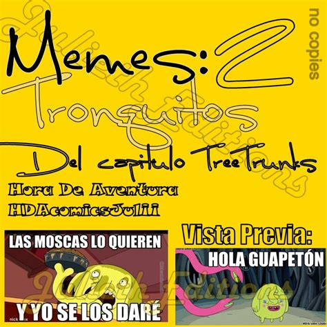 Tree Trunks Meme - meme hora de aventura tree trunks by julietheditions on