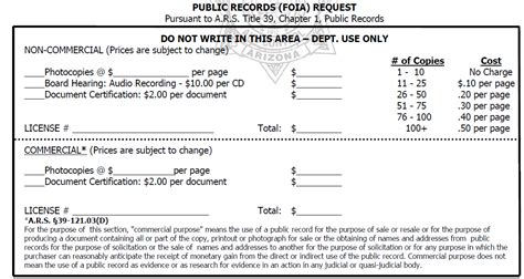 Arizona Records Request Records Request Arizona Department Of Liquor Licenses And