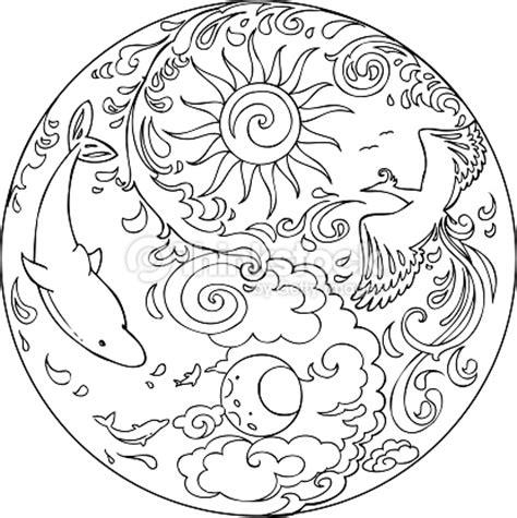 Färben Tao Mandala Diksha Vektorgrafik   Thinkstock