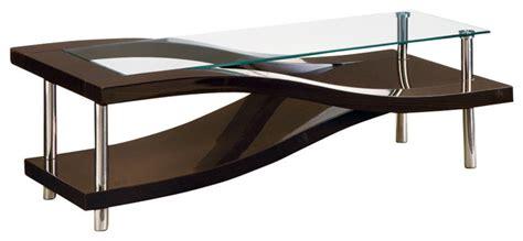 Global Furniture Usa 759wc Wave Clear Glass Coffee Table Wedge Coffee Table