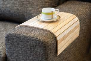 flexible wooden sofa armrest tray table the green head