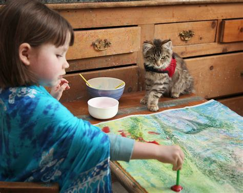 painting for 5 year olds 5 year with autism paints stunning masterpieces