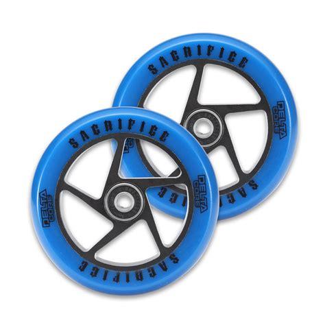 Blackpink Hw Blue delta wheels royal blue black sold as pair