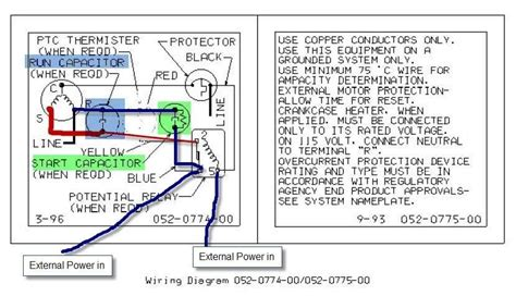 copeland single phase compressor wiring diagram wire