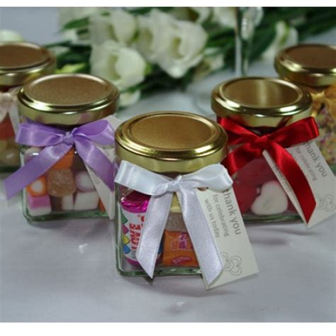 wedding favors in jars personalised wedding favour mini jars at the