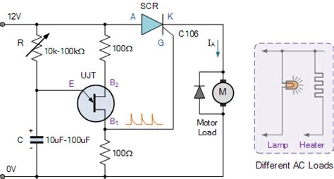 scr firing circuit diagram power electronics ujt firing circuits for scr