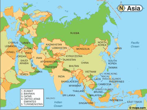 Asia Map   Infoplease