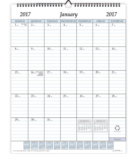 12 Month Calendar 2017 2017 12 Month Wall Calendar In Calendars And Planners