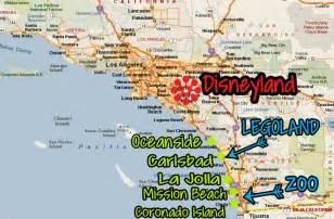amusement parks california map coastal california from san francisco to san diego dlr