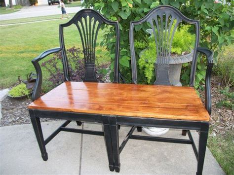 Repurposed Dining Chairs bench made from repurposed dining chairs for the home