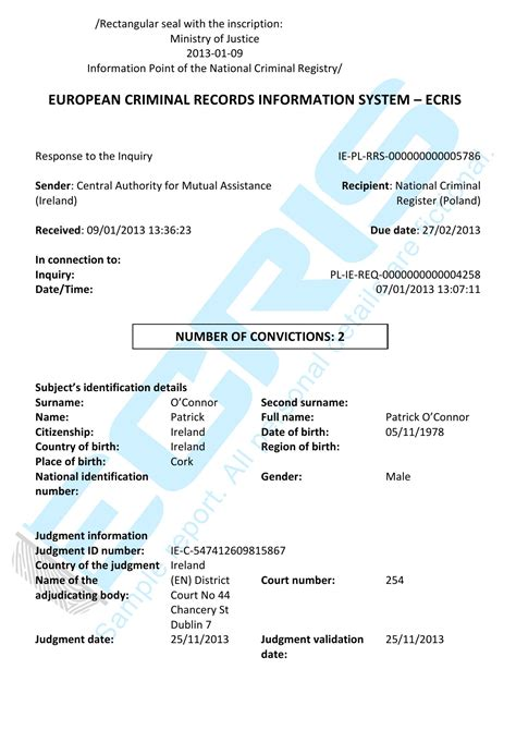 Criminal Record Ireland Birth Certificate Ireland Dublin Images Birth