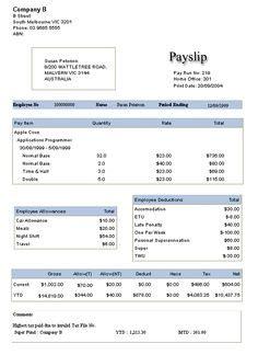 basic payslip template word salary slip basic payslip