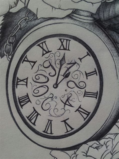 clock with roses tattoo meaning roses and clock on behance