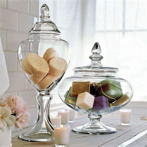 apothecary bathroom set apothecary jars used as bathroom decor go neutral with