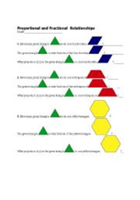 fractions pattern blocks worksheet english worksheets proportions and equivalent fractions