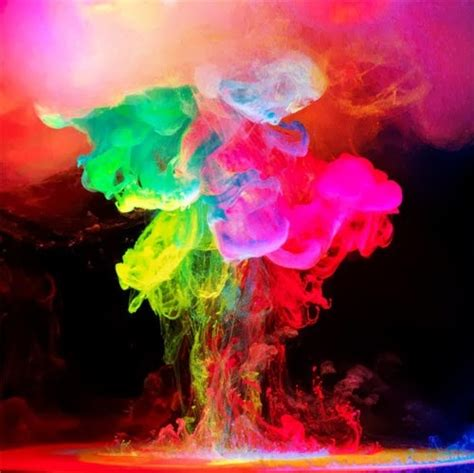 Coloured Smoke Neon Colours Neon Pinterest Neon Water Ink Wallpaper Allwallpaper In 8497 Pc En