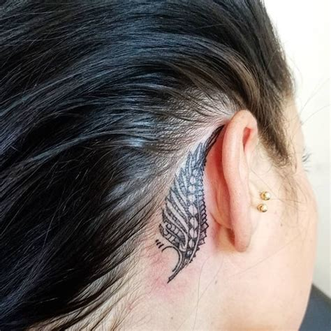 feather tattoo designs behind ear the ear 55 different suggestions