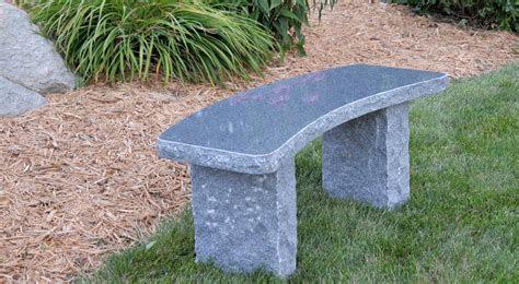 stone bench creations curved charcoal bench stone age creations ltd