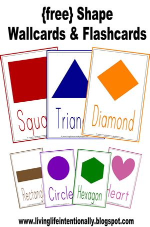 free shape flashcards for kids totcards free shape wallcards i am always looking for things for