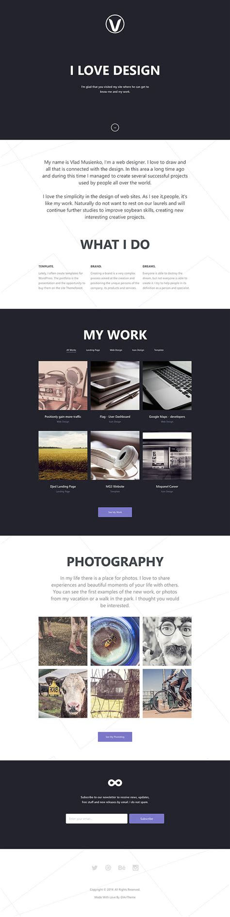 one page html5 responsive template 25 fresh and free html5 website templates