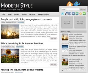 templates blogger modern modern style blogger template newbloggerthemes com