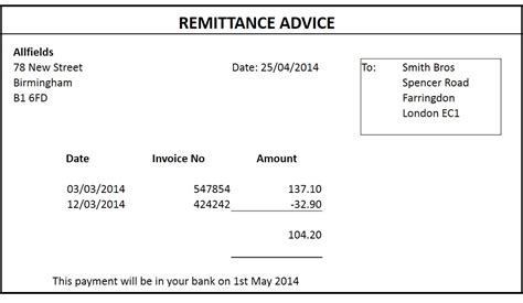 payment advice template 12 remittance templates excel pdf formats