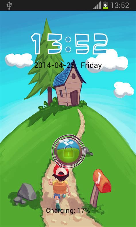 Themes Android Cartoon | lock screen cartoon theme free android theme download appraw